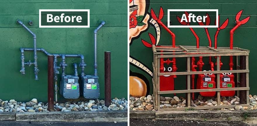 Turn a commercial property's utilities and hardware into art!